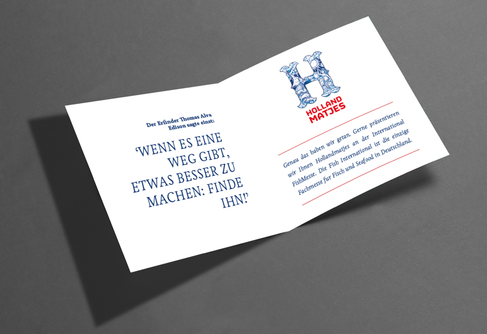 Holland Matjes Uitnodiging Binnenkant
