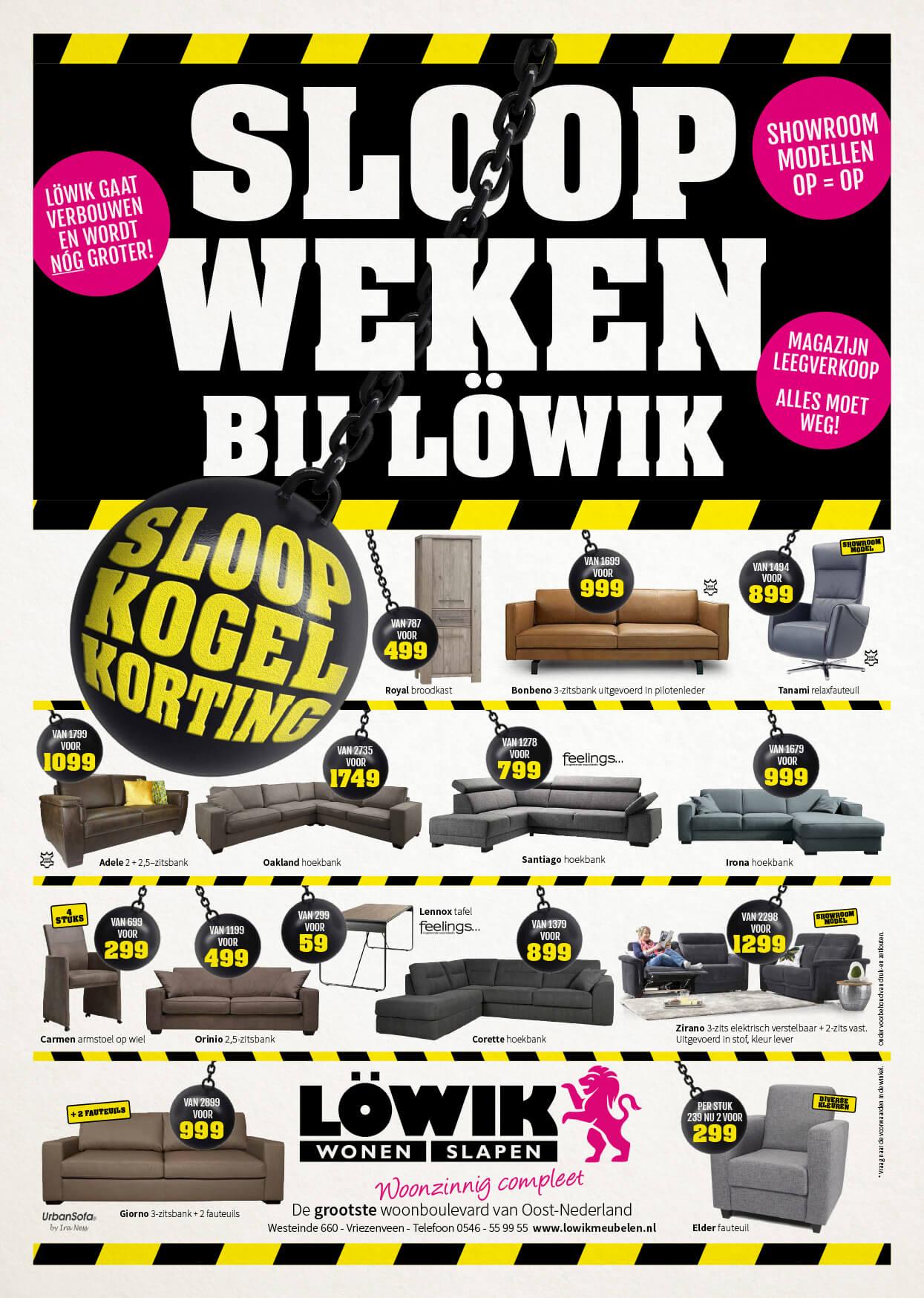 Lowik Meubelen Sloopweken Advertentie